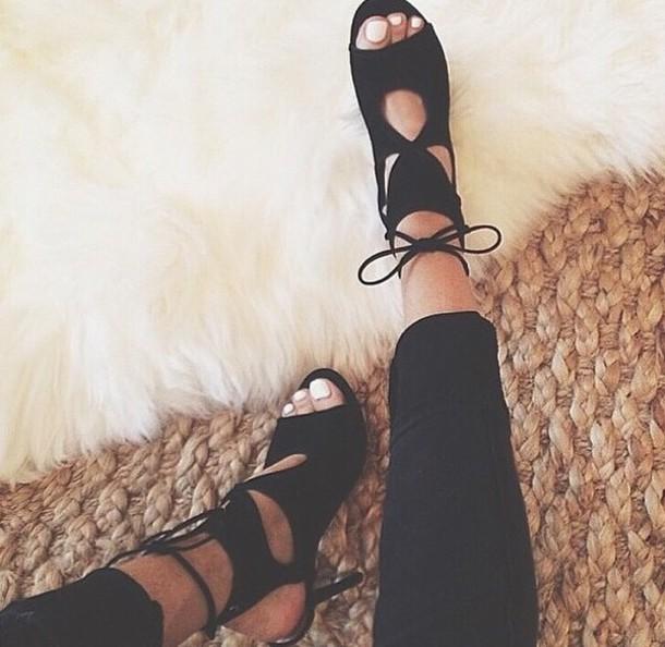 shoes heels lace up gladiators