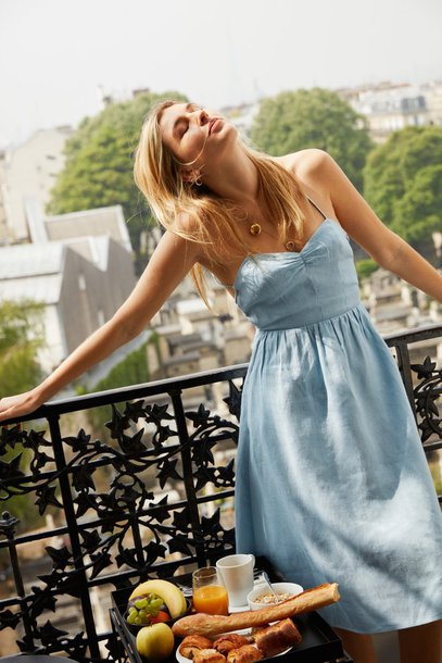 Camille Charriere, necklace, midi dress