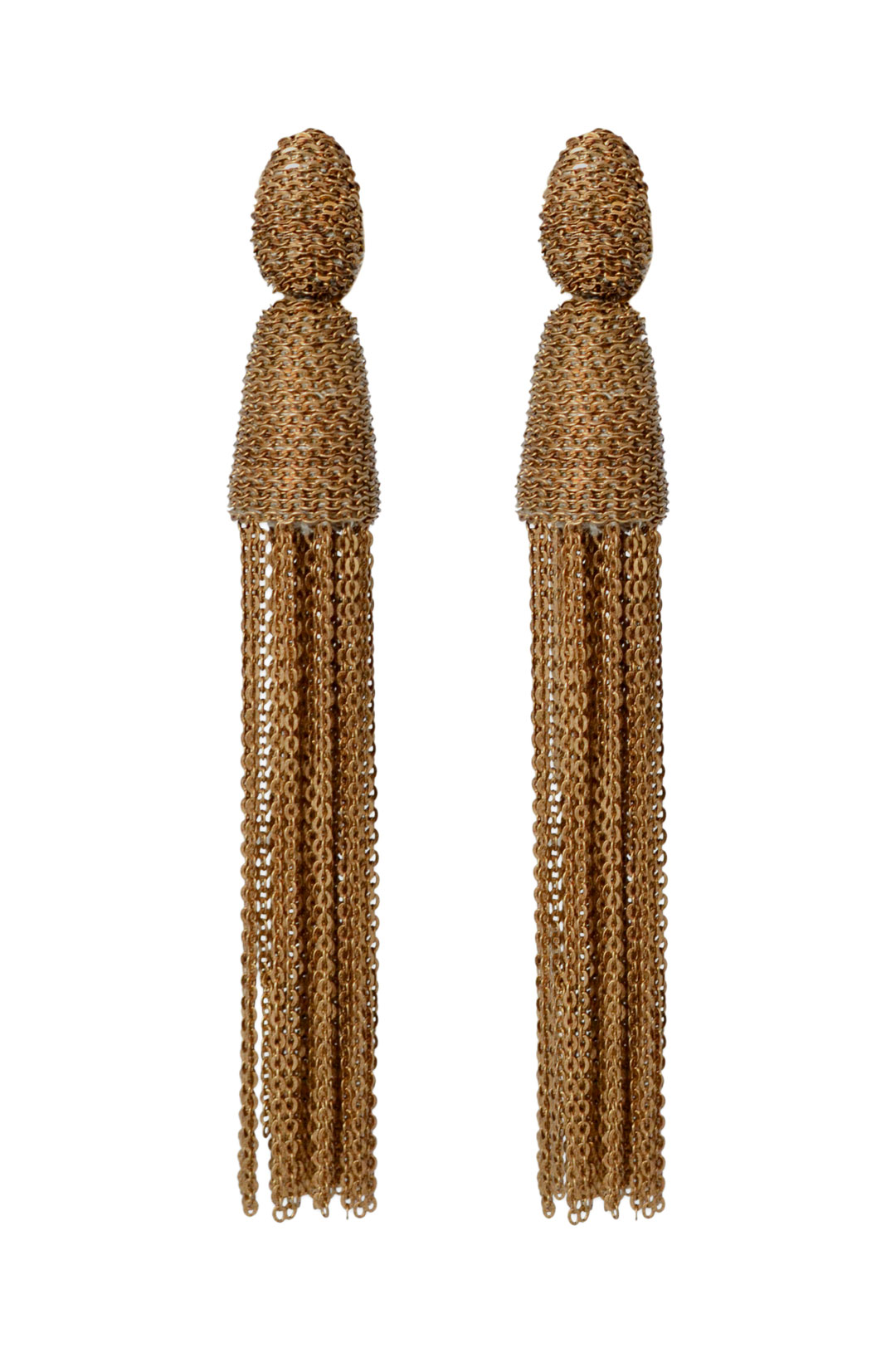 Chain Tassel Earrings by Oscar de la Renta at $65 | Rent The Runway