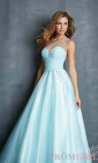 Prom Dresses, Celebrity Dresses, Sexy Evening Gowns - PromGirl: Long One Shoulder Ball Gown