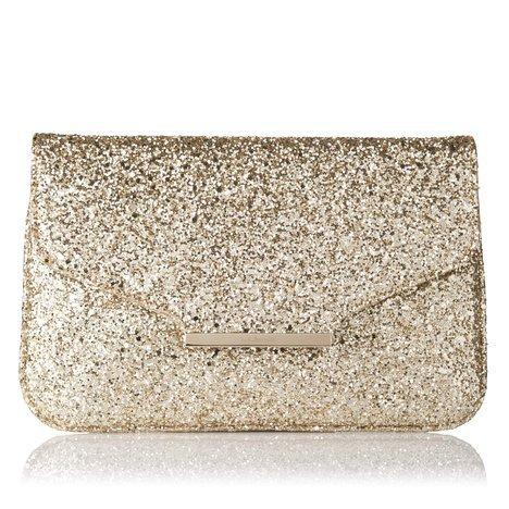 Dahlia Glitter Clutch Bag Soft Gold L.K.Bennett on Wanelo