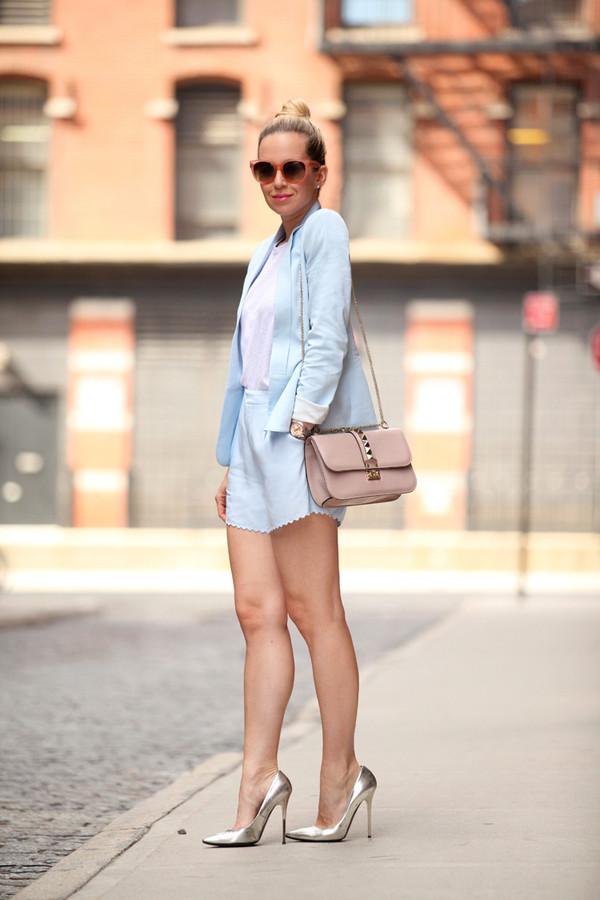 brooklyn blonde jewels shorts jacket bag sunglasses shoes