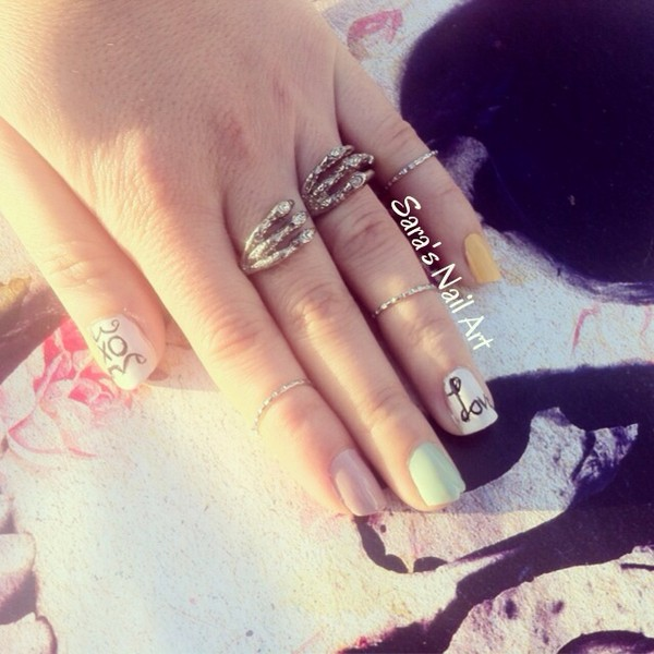 jewels silver jewelry ring forever 21 zara love more nail polish ring silver silver ring knuckle ring claw ring talon