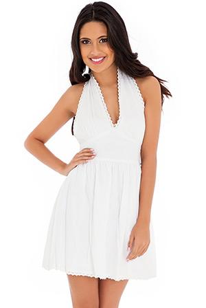 Lace Trim Pinafore Dress
