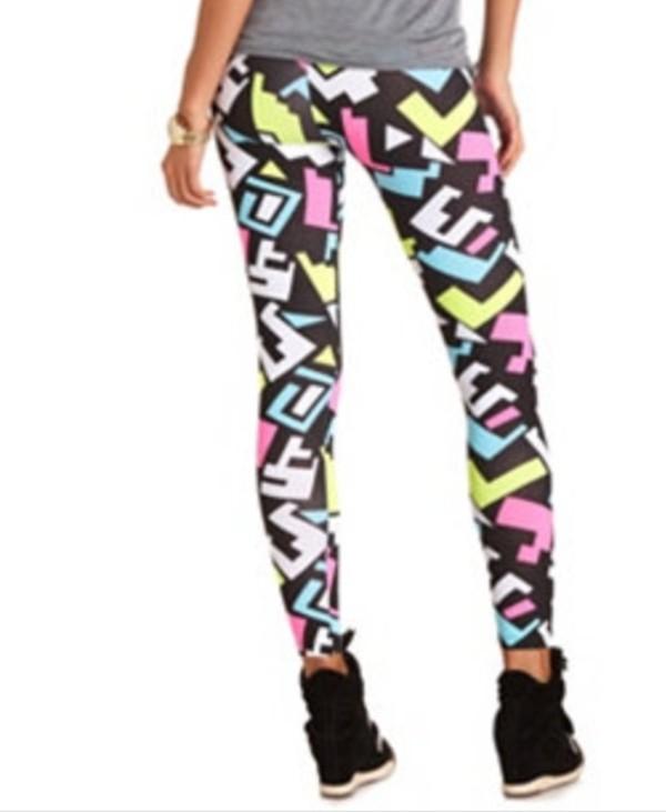 pants leggings colorful leggings