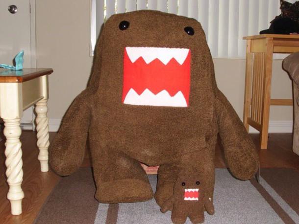 stuffed animal giant domo kun toy blouse hat