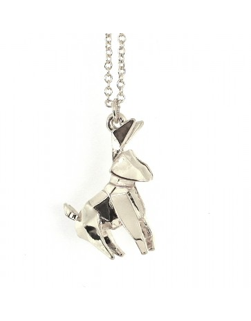 Love Hearts and Crosses -  Origami Animal Necklace - Quirky Fashion Jewellery and Accessories
