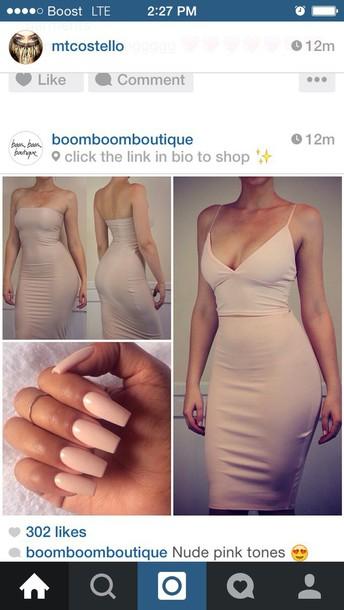 dress nude strapless