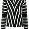 Chloé striped jumper, women's, size: medium, black, cotton