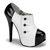 Black & White Tuxedo Booties - Unique Vintage - Prom dresses, retro dresses, retro swimsuits.