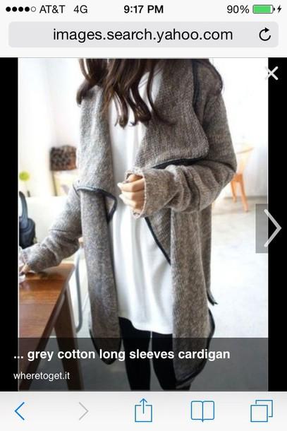 cardigan j crew grey oversized cardigan