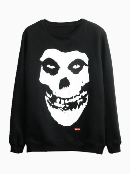 Skull Sweatshirt in Black | Choies