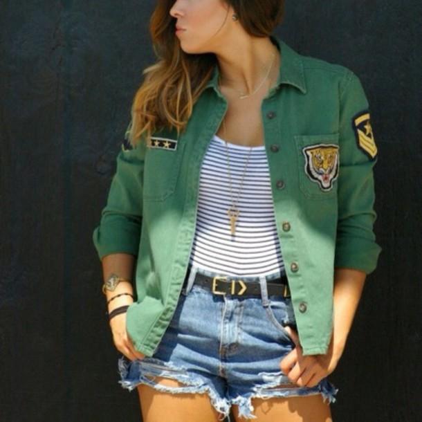 jacket green jacket badge