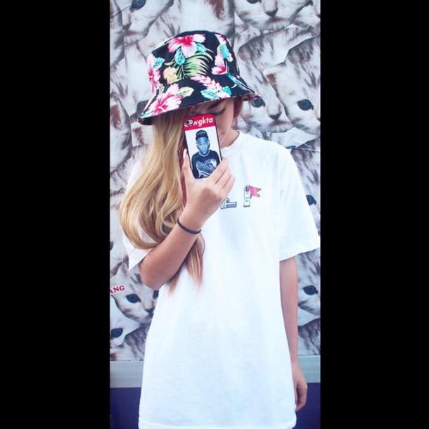 hat skateboard hawaiian bucket hat hawaiian printed bucket hat