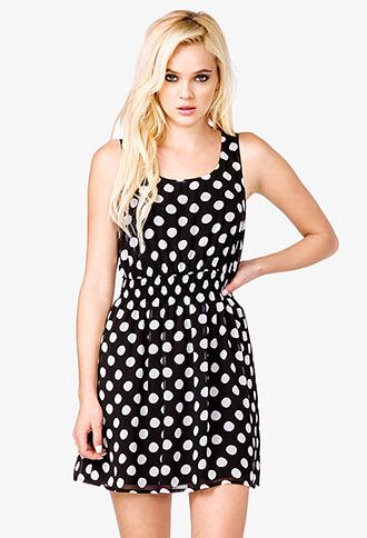 Smocked Polka Dot Dress | FOREVER21 - 2037174114