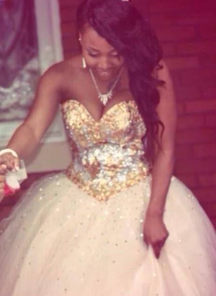 dress champange gold prom dress