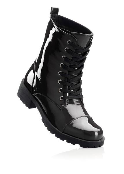 Patent lace-up boots Patent boots with • £34.99 •  bonprix