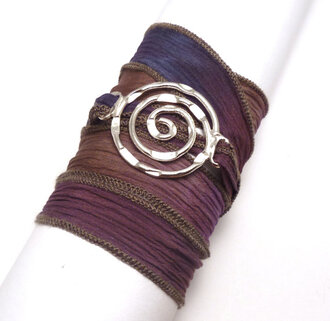 jewelry wrap bracelet silk ribbon bracelet bracelets