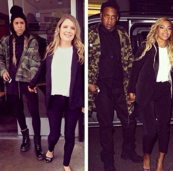 jacket Jay Z beyonce military style green jacket