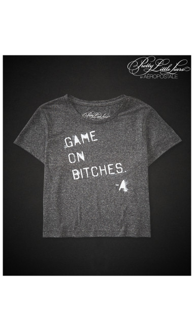 Pretty Little Liars Game On Boxy Crop Graphic T -