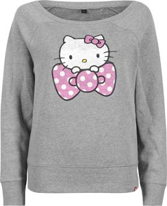 Vans Dot Hello Kitty Bow W sweater grey heather pink