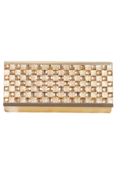 Graceful Bejeweled Serpentine Clutch - OASAP.com