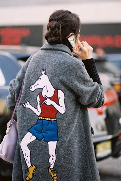 vanessa jackman blogger horse grey coat