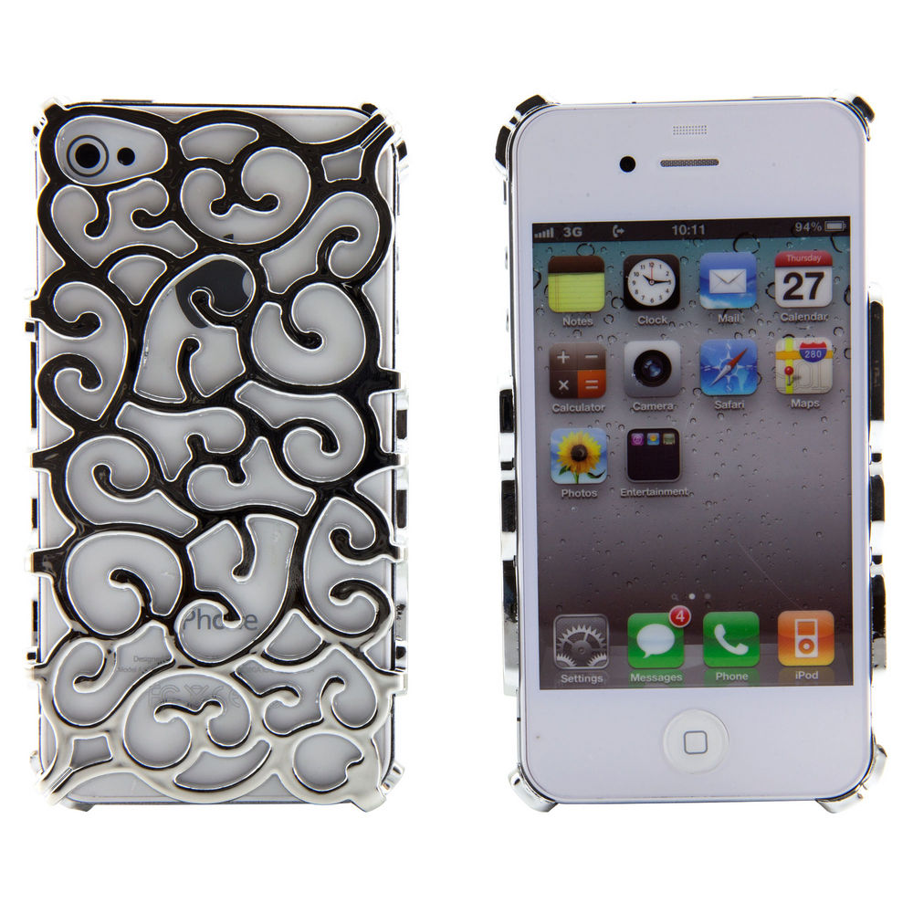 Silver Grapevines Hollow Vines Case Hard Metallic Cover for Apple iPhone 4 4S 4G | eBay