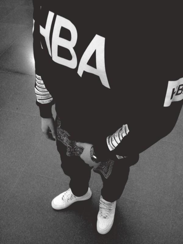 t-shirt black menswear sweater blouse hood by air nice gangsta white