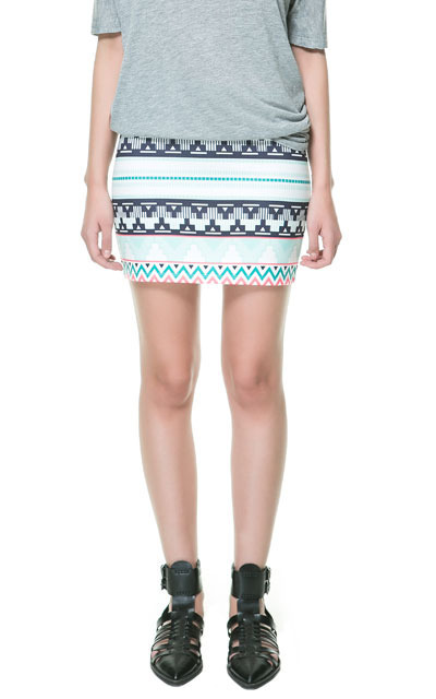2013 Summer ZA Ladies' Brand Cross Striped Geometric Design Printed Mini Skirt ,Girl's Over Hip Pencil Short Skirt dq07-in Skirts from Apparel & Accessories on Aliexpress.com