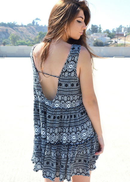 dress aztec aztec print dress aztec dress black and white black and white dress black and white aztec print backless backless dress