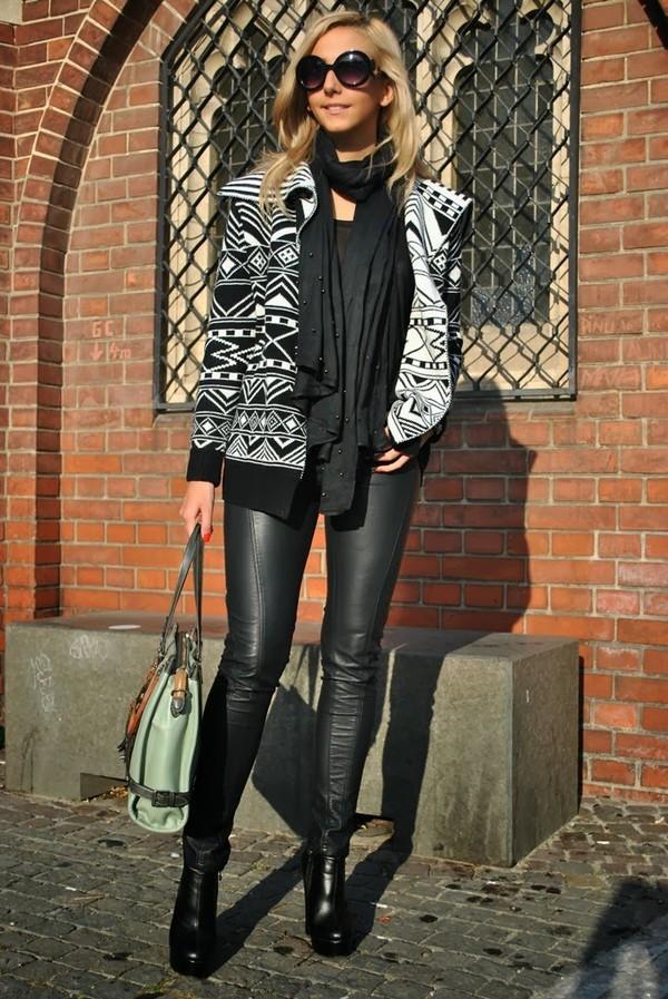 let's talk about fashion ! sweater sunglasses pants bag shoes