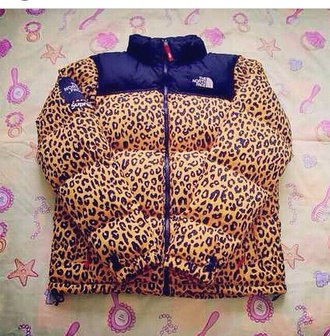 jacket leopard print north face north face jacket