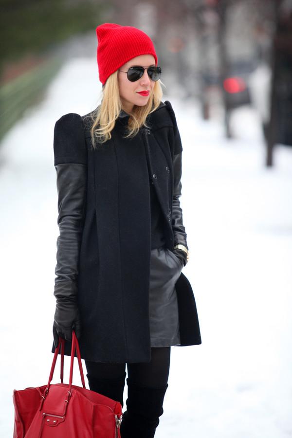 brooklyn blonde jewels coat sweater skirt shoes hat bag