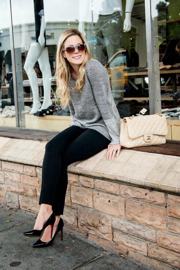 see shop eat do sweater pants shoes sunglasses bag jewels