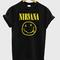 Nirvana smile grunge t-shirt