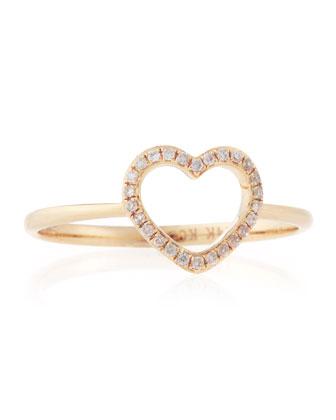 KC Designs Rose Gold Diamond Heart Ring, Size 7 - Neiman Marcus Last Call