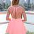 Coral Party Dress - Coral Sleeveless Dress with Lattice   UsTrendy
