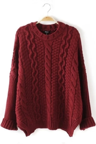 Classic Cable Sweater - OASAP.com