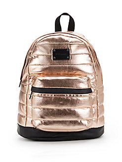 Metallic Fabric Backpack - SaksOff5th