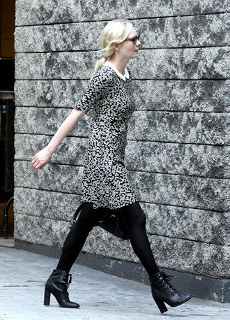 high heels black shoes black ankle boots kirsten dunst shoes