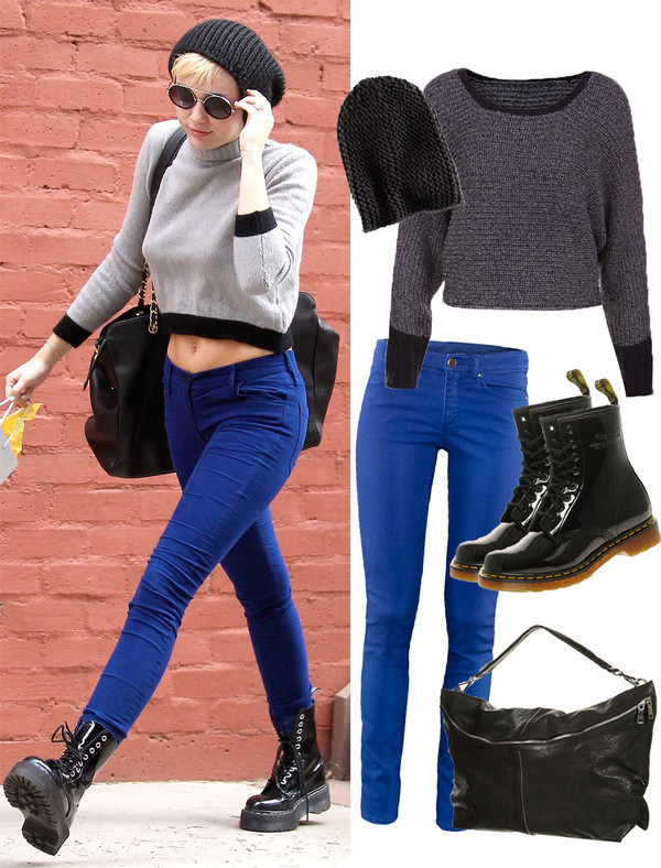sweater clothes celebrity miley cyrus hat boots shoes