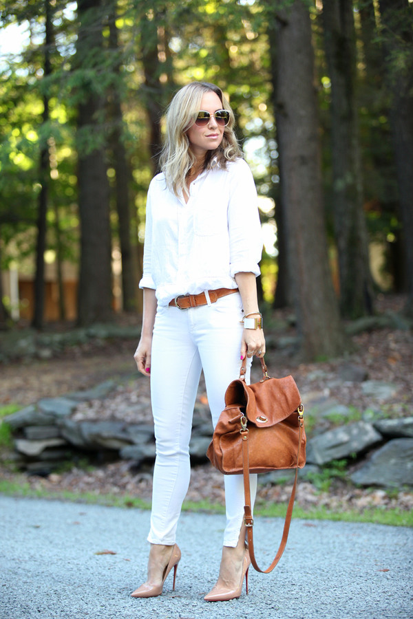 brooklyn blonde jeans shoes belt bag sunglasses jewels