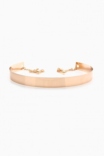 LoveMelrose.com From Harry & Molly | Cuff Chain Belt - Gold