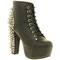 Jeffrey campbell lita platform ankle boot black spike shoes - womens ankle boots shoes - office shoes