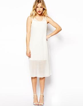 ASOS | ASOS Sheer Overlay Mini Dress at ASOS