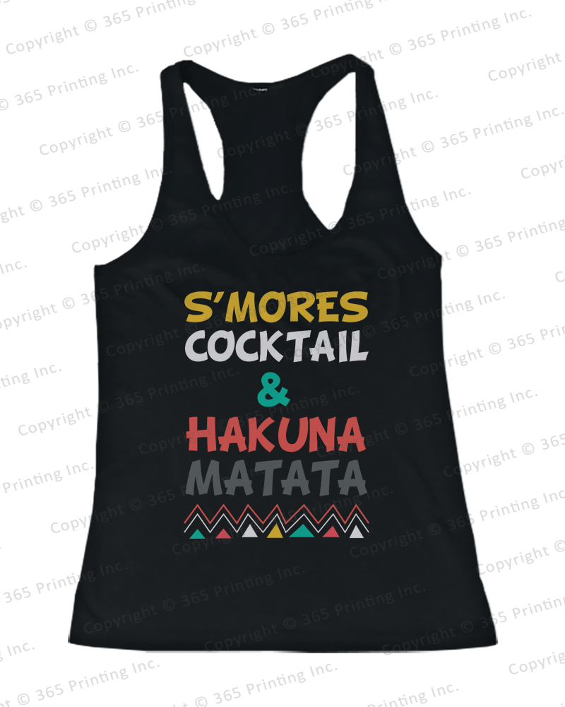 Women's Beach Tank Tops s'mores Cocktail and Hakuna Matata Yellow | eBay