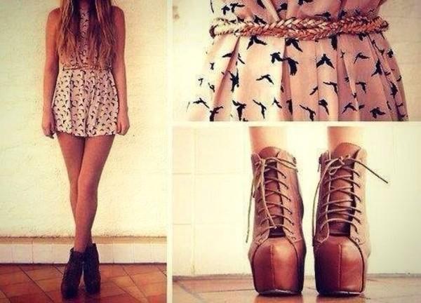 dress shoes birds rose