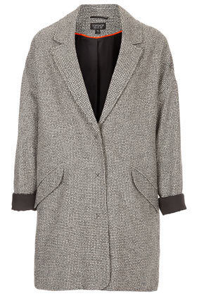 TOPSHOP UK BLACK AND WHITE BOYFRIEND COAT | eBay