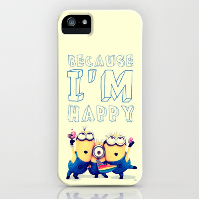 Because i'm happy - for iphone iPhone & iPod Case by Simone Morana Cyla | Society6